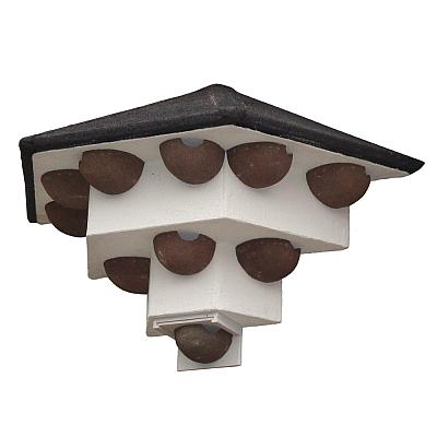 Wall-Mounted House Martin Colony